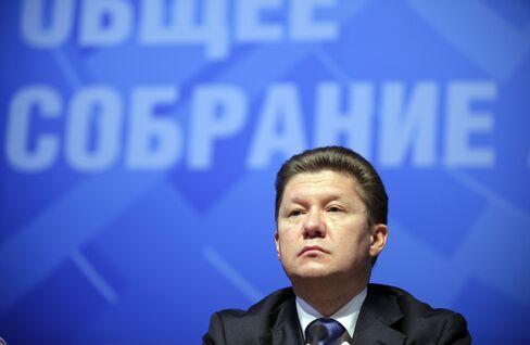 OAO Gazprom Chief Executive Officer Alexei Miller
