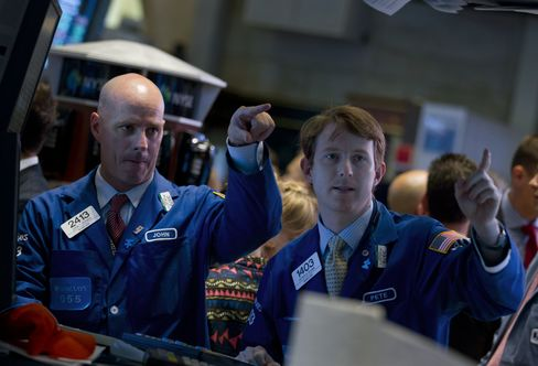 U.S. Stocks Rise on Better-Than-Estimated Data, Acquisitions