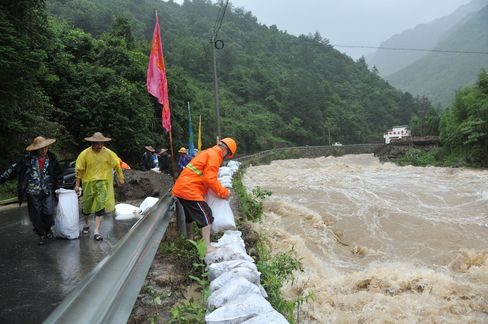 Typhoon Chan-hom in Zhejiang Province