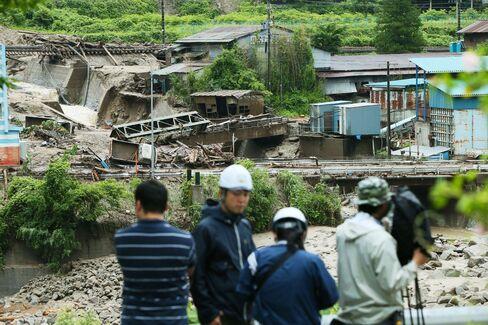 Landslide In Nagiso