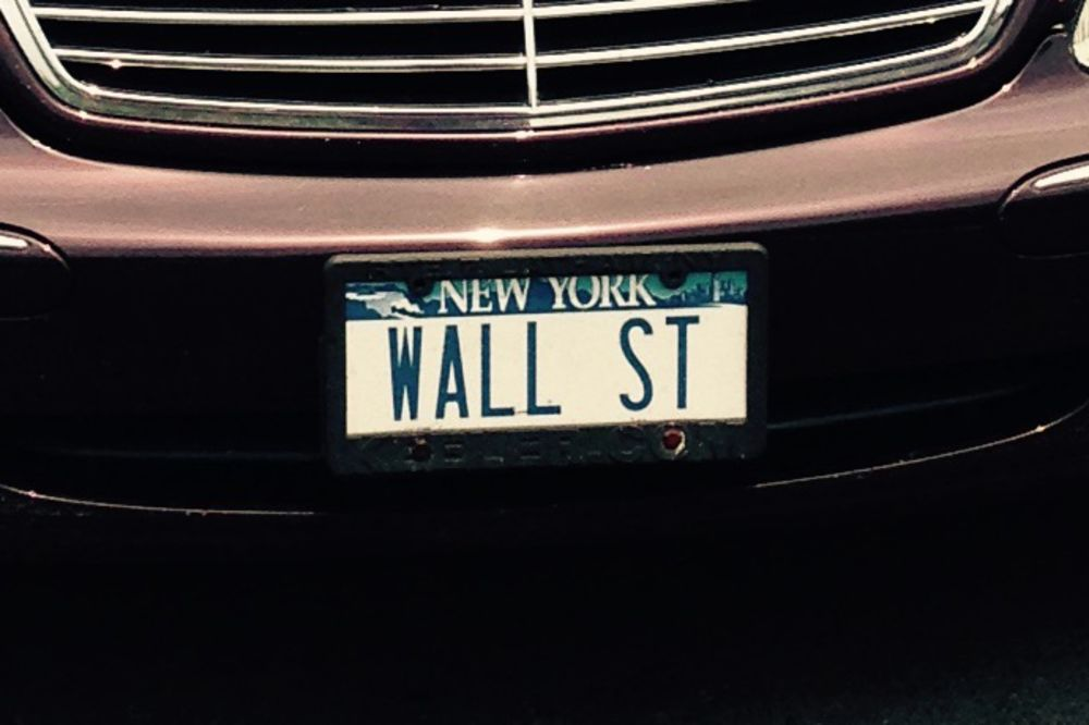 Buy WALL ST Vanity License Plates for $12,000 - Bloomberg