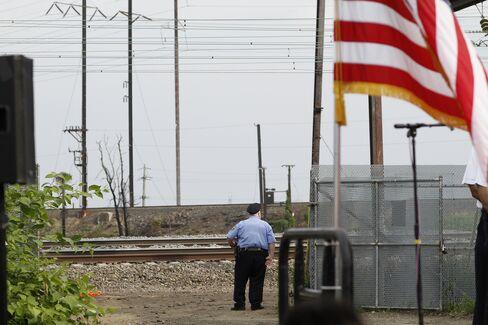 The Site Of Amtrak Crash