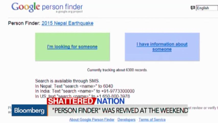 finding survivors in nepal with google s person finder bloomberg