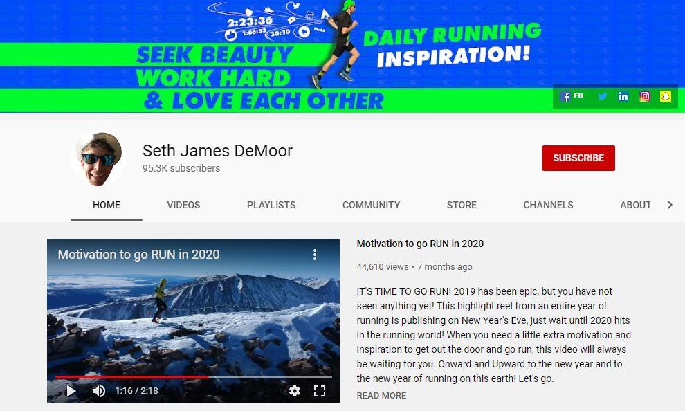 Seth James DeMoor Youtube