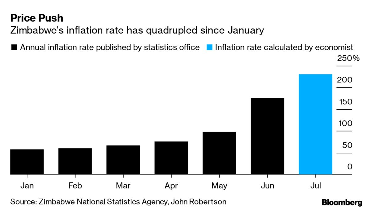 Economist's Calculation Shows Zimbabwe's Inflation Is 230%