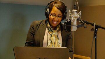 Candy Carson, wife of Republican presidential hopeful Ben Carson, in a recording studio in Mobile, Alabama, in November 2015.