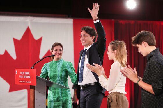 Canada Stocks, Dollar Climb After Trudeau Wins Third Term