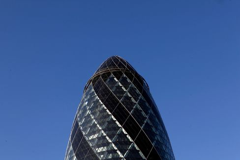 The Gherkin Tower Stands in London