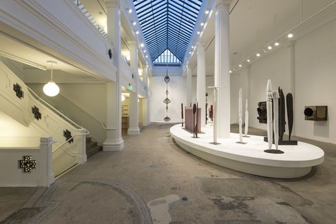 """An installation view of """"Revolution in the Making: Abstract Sculpture by Women,"""" in Hauser Wirth &Schimmel's South gallery"""
