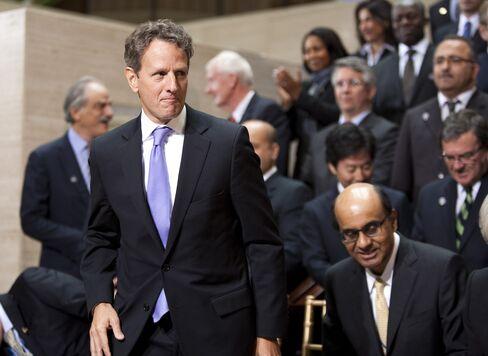 Geithner Urges End to European 'Cascading Default' Threat