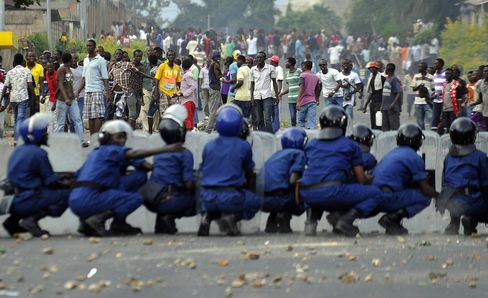 Unrest in Burundi