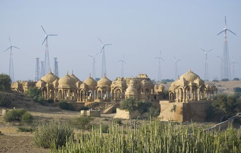 Wind turbines in Rajastahn