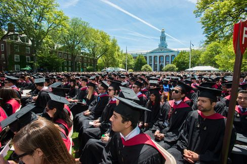 Commencement ceremonies at the Harvard Business School campus in Boston, Mass. on May 29, 2014.