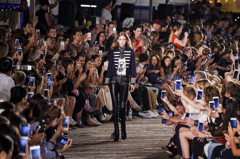 Gigi Hadid walks at Tommy Hilfiger Women's Fashion Show at Pier 19 on Sept 9.