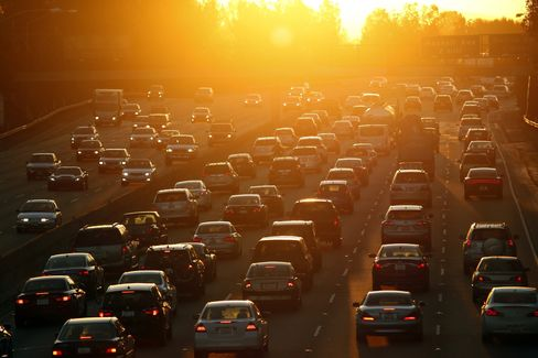 The traffic situation stateside, on the eastbound 101 freeway in Los Angeles.