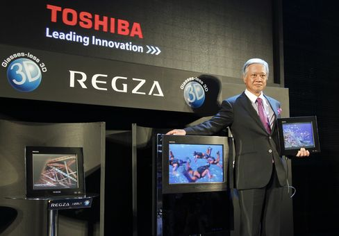Glasses-Free 3-D TVs Miss Sales Target in Debut, Toshiba Say