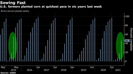 Blistering Pace for U.S. Corn Planting Signals Supply Relief