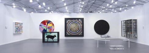 Damien Hirst installation at Frieze New York.