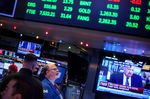 Trading On The Floor Of The NYSE As Stocks Gain On U.S. Tax Plan