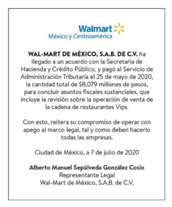 Dear Mexico, Sorry About Those Tax Issues, Wal-Mart Says in Ad