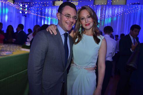 Mitchell Davidson, co-founder of Post Capital Partners, and Nina Rennert Davidson. Photographer: Amanda Gordon/Bloomberg