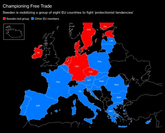 EU's Free Trade Champions Challenge 'Protectionist Forces'