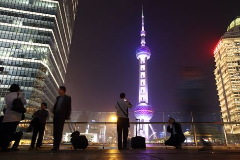 General Images Of Shanghai As The People's Bank of China Steps Up Support For Slowing Economy