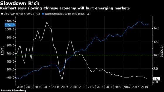 Harvard's Reinhart Sees Rising Risk of Big Emerging-MarketSovereign Defaults
