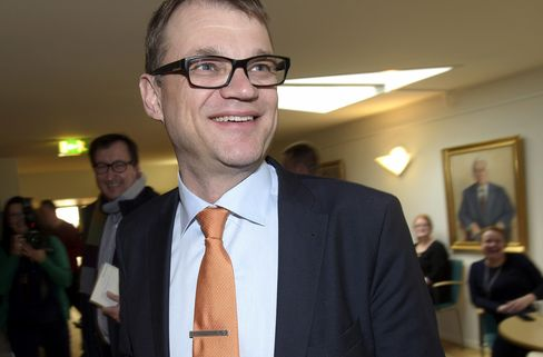 Finland's Prime Minister-Elect Juha Sipila