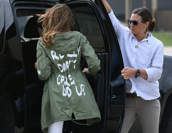 Melania Trump's Jacket Overshadows Goodwill Visit to Immigrants