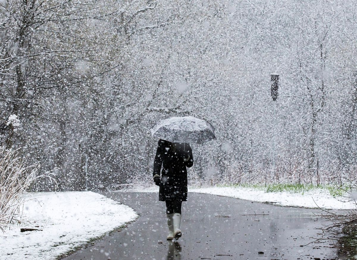 Spring Sun Can't Hold Back Another Snow Dump in U.S. Plains