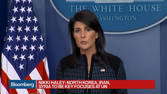Haley: N. Korea Will Be 'Front and Center' at UN Assembly