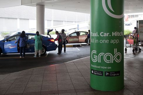 A Grab Taxi Advert