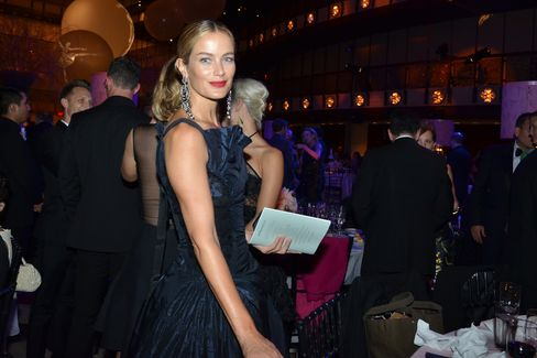 "Carolyn Murphy, a model for Oscar de la Renta, said she liked the ""sinewy"" look of the dancers."