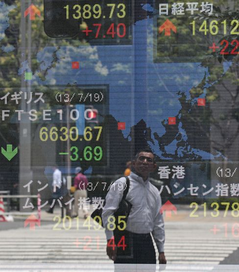 Asian Stocks Rise, Extending Two-Month High, on Raw Materials
