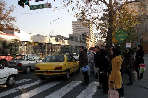 Pedestrians in Tehran
