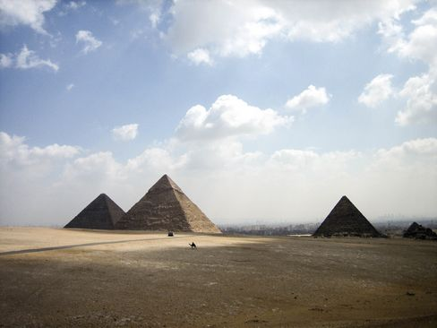 The pyramids of Giza, one of Unesco's iconic World Heritage Sites.