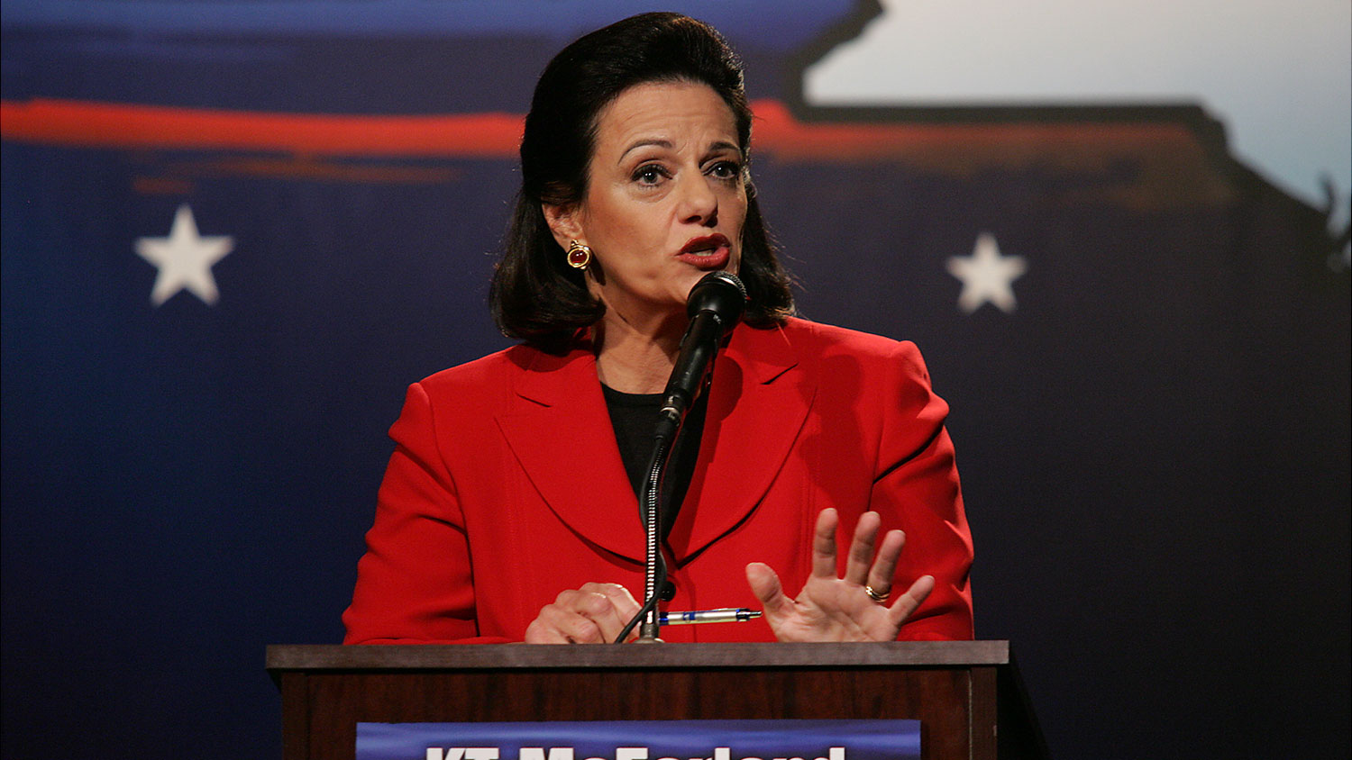 KT McFarland participates in a debate in New York on Aug. 9, 2006.