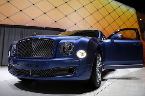 "The first Bentley Mulsanne sold at auction in 2009 for $500,000. ""The number of people being able to enjoy a luxury product is not a limiting factor,"" says Bentley's director of marketing and product strategy."