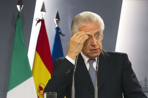 Monti of Italy Warns That Currency Crisis Risks Europe's Future