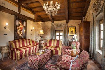 Royal Master Suite at Hotel Castello di Sinio.