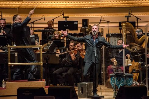 Sting performs at 'An Evening with Sting: Symphonicities at Carnegie Hall'