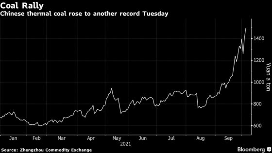 Coal Hits Another Record in China as Floods Deepen Energy Crisis