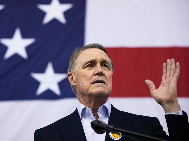 Sen. Perdue Holds Campaign Event On First Day Of Early Voting For Georgia Runoff Election