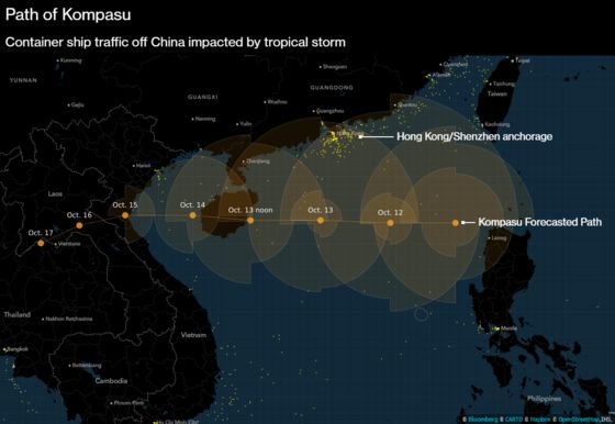 Cyclone Closes One of World's Busiest Ports, Creating Ship Traffic Jam