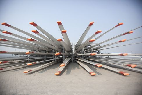 Blades for Vestas Wind Systems Wind Turbines Sit in Tianjin