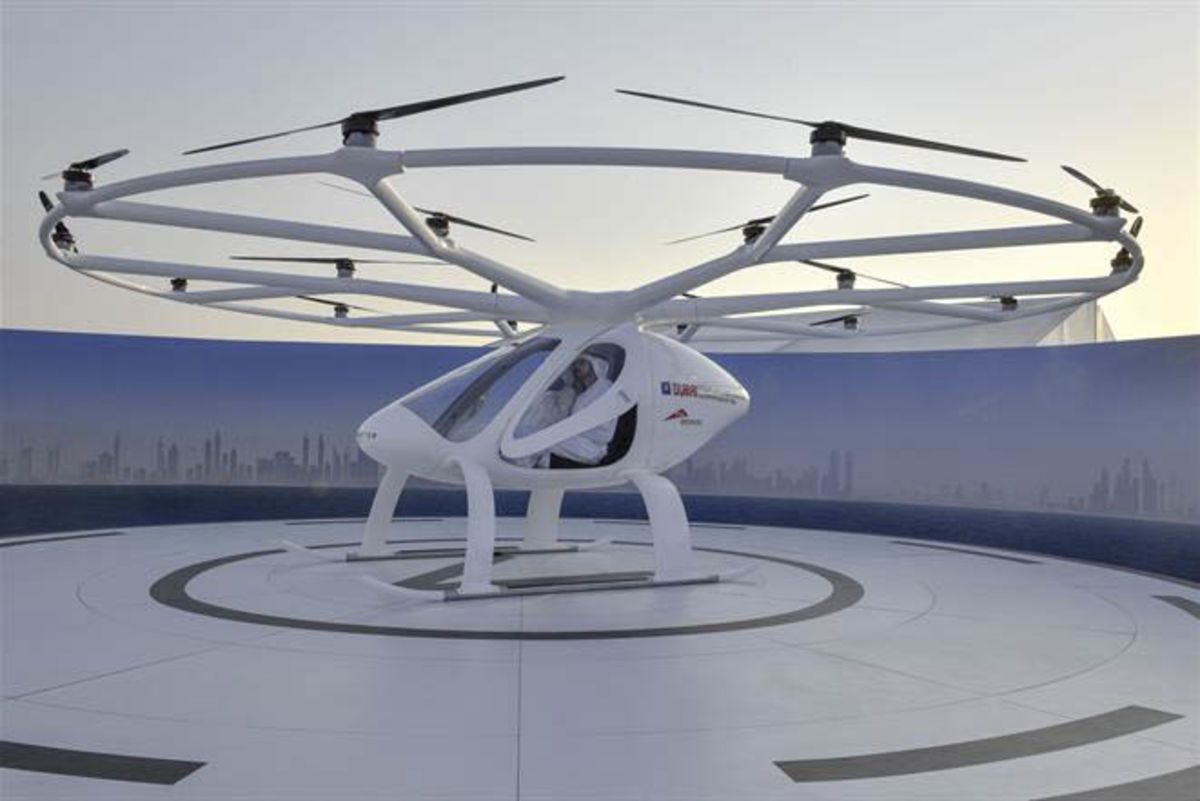 Image result for Dubai Stages First Public Test of Drone Taxi Service with Electric Volocopter