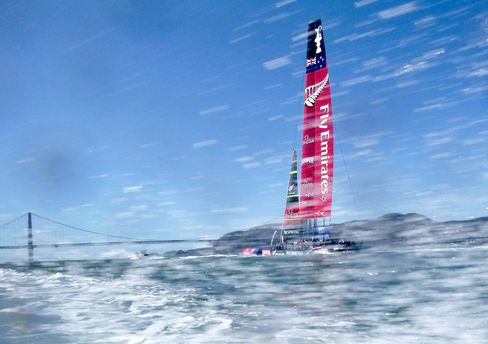Emirates Team New Zealand In The Final Race of 2013