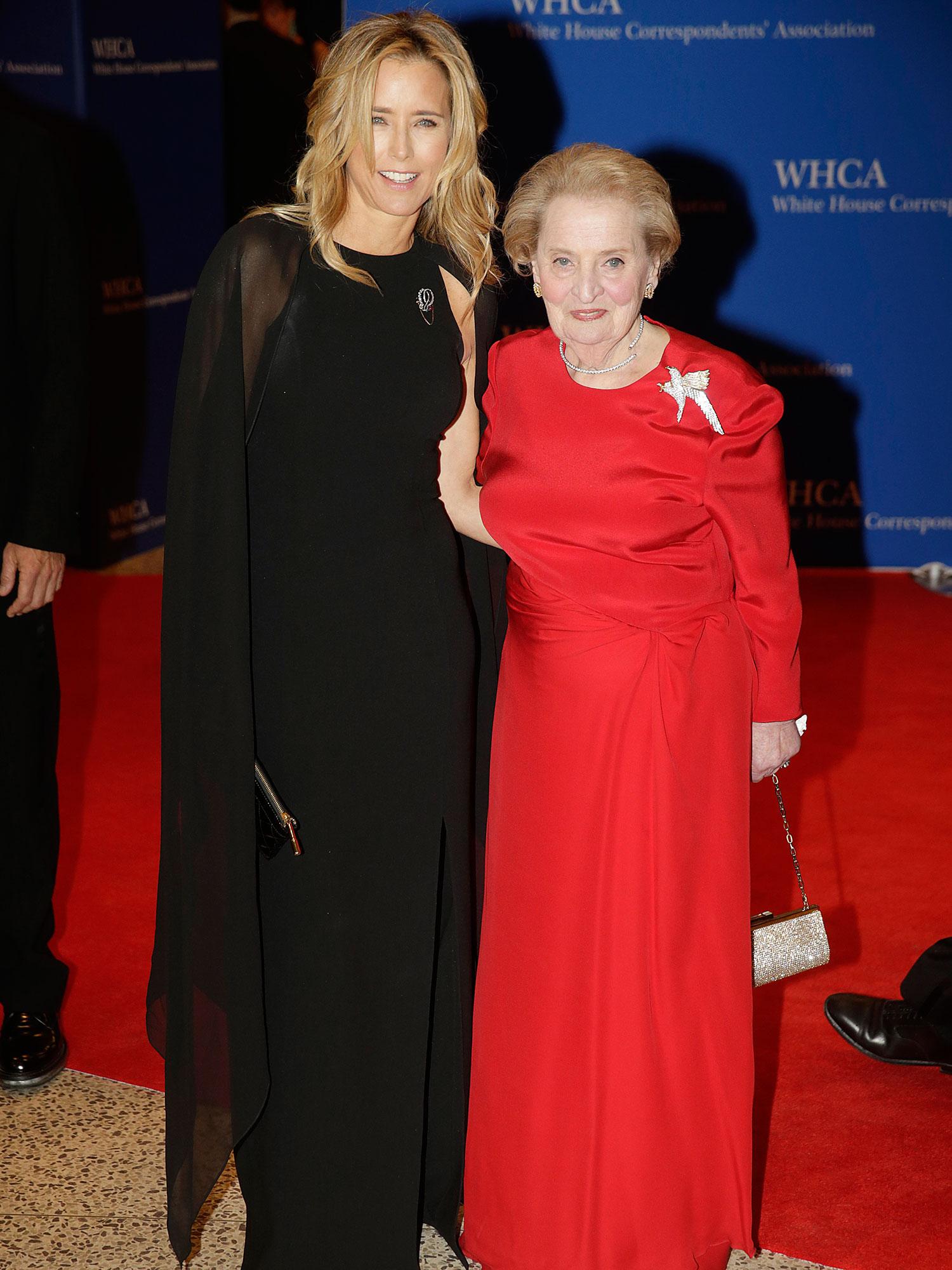 Tea Leoni and Madeleine Albright