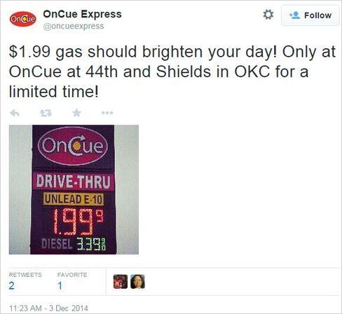 Gas Below $2 in Oklahoma City